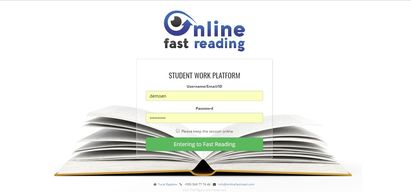Online Fast Reading
